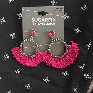 The Sugarfix by BaubleBar Tassel Hoop Earrings NWT